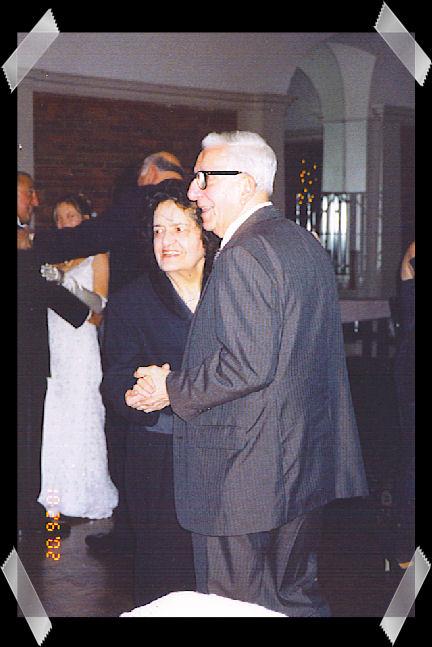 Joe dancing with mom